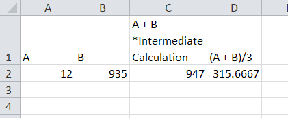 Avoid Errors with intermediate calculations